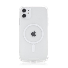 Kryt pro Apple iPhone 11 - zesílené rohy - MagSafe magnety - plastový / gumový - průhledný