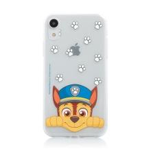 """Kryt """"Tlapková patrola"""" pro Apple iPhone Xr - gumový - Chase - průhledný"""