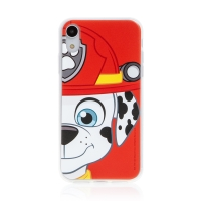 "Kryt ""Tlapková patrola"" pro Apple iPhone Xr - gumový - hasič Marshall"