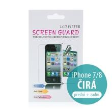 Ochranná fólie 2v1 pro Apple iPhone 7 / 8 - na přední a zadní stranu - čirá