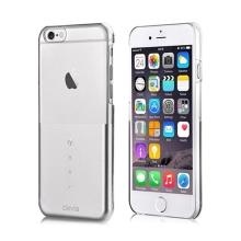 Plastový kryt DEVIA pro Apple iPhone 6 / 6S - průhledný / stříbrný s kamínky Swarovski