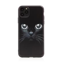 Kryt pro Apple iPhone 11 Pro Max - gumový - černý - kočičí oči
