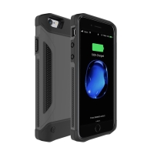 Externí baterie / kryt pro Apple iPhone 6 / 6S / 7 - 4000 mAh - šedá