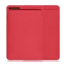 """Pouzdro / obal pro Apple iPad velikosti 9,7 """" / 10,2"""" / 10,5"""" - kapsa na Apple Pencil - umělá kůže - červené"""