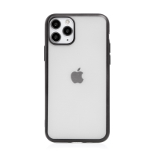 Kryt FORCELL Electro Matt pro Apple iPhone 11 Pro - gumový - průhledný / černý