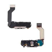 Dock konektor kompletní pro Apple iPhone 4S - reproduktor, anténa a mikrospínač Home Button - černý