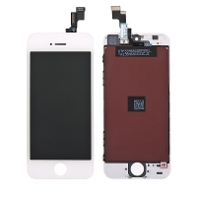 LCD panel + dotykové sklo (touch screen digitizér) pro Apple iPhone 5S / SE - bílý - kvalita A+