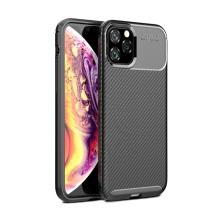 Kryt pro Apple iPhone 11 Pro Max - karbonová textura - gumový - černý