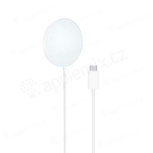 Bezdrátová nabíječka / nabíjecí podložka XO - Qi / Magsafe kompatibilní - 15W - bílá