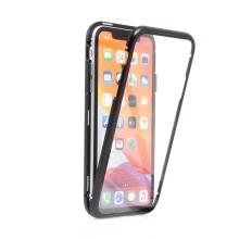 Kryt pro Apple iPhone 11 - 360° ochrana - magnetické uchycení - skleněný / kovový - černý