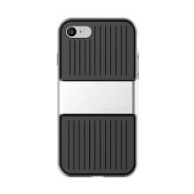 Kryt Baseus pro Apple iPhone 7 / 8 plastový stříbrný rámeček - gumový černý