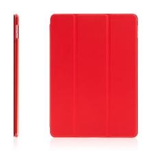 Pouzdro / kryt pro Apple iPad Air 2 - funkce chytrého uspání + stojánek - červené