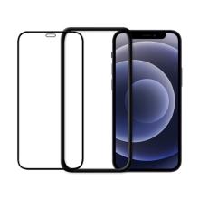 Tvrzené sklo (Tempered Glass) ODZU pro Apple iPhone 12 mini - přední - černý rámeček - 2,5D - 0,3mm