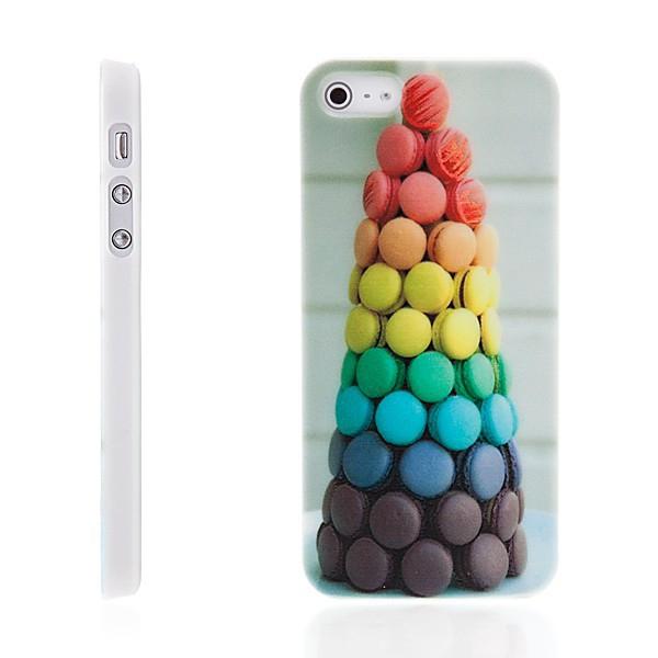 Plastový kryt pro Apple iPhone 5 / 5S / SE - dessert macarons