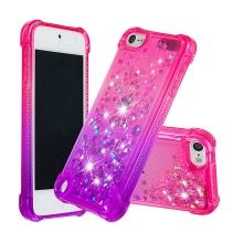 Kryt pro Apple iPod Touch 5 / 6 / 7 - pohyblivé třpytky - plastový / gumový - růžový / fialový