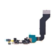 Flex kabel + mikrofon + napájecí a datový konektor pro Apple iPhone 4S - bílý