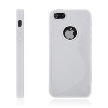 Protiskluzový ochranný kryt S line pro Apple iPhone 5 / 5S / SE - bílý