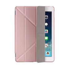 Pouzdro / kryt pro Apple iPad 9,7 (2017-2018) - odnímatelný Smart Cover - stojánek - plastové - Rose Gold