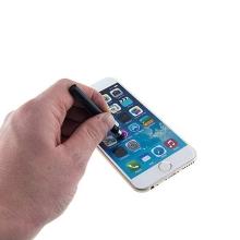Dotykové pero / stylus + antiprachová záslepka na jack konektor pro Apple iPhone / iPad / iPod - černé