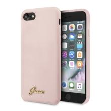 Kryt GUESS Retro pro Apple iPhone 7 / 8 / SE (2020) - silikonový - pískově růžový