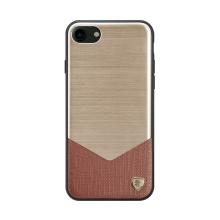 Kryt NILLKIN pro Apple iPhone 7 / 8 - kov / guma / umělá kůže - zlatý