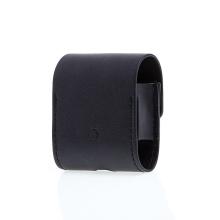 Pouzdro / obal pro Apple AirPods - umělá kůže - poutko na zavěšení + karabina