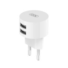 Nabíječka / EU napájecí adaptér XO L62 - 2x USB - 12W - bílý