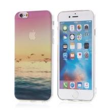 Kryt pro Apple iPhone 6 / 6S - gumový - průhledný / ptáci a moře