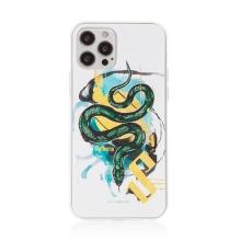 Kryt Harry Potter pro Apple iPhone 12 / 12 Pro - gumový - had Zmijozelu