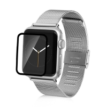 Super odolné tvrzené sklo (Tempered Glass) BASEUS pro Apple Watch 38mm Series 1 / 2 (tl. 0,15mm) - černý rámeček