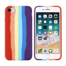 Kryt pro Apple iPhone 7 / 8 / SE (2020) - silikonový - duhový