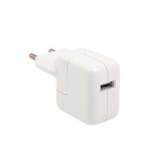 12W EU napájecí adaptér / nabíječka (A1401) pro Apple iPhone / iPad / iPod - bílá - kvalita A+