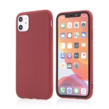 Kryt pro Apple iPhone 11 - matný - gumový - červený