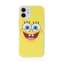 Kryt Sponge Bob pro Apple iPhone 12 mini - gumový - vysmátý Sponge Bob