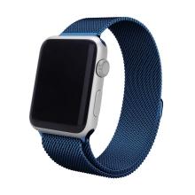 Řemínek pro Apple Watch 40mm Series 4 / 5 / 6 / SE / 38mm 1 / 2 / 3 - nerezový - modrý