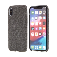 Kryt pro Apple iPhone X / Xs - plastový / látkový - šedý