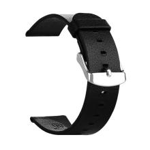 Kožený řemínek BASEUS pro Apple Watch 38mm Series 1 / 2 / 3 - černý