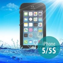 Voděodolné plastové pouzdro Redpepper pro Apple iPhone 5 / 5S / SE s podporou funkce Touch ID - černé