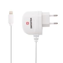 Nabíječka / adaptér SWISSTEN pro Apple iPhone - 1A - kabel Lightning 1m - bílá