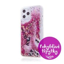 Kryt KARL LAGERFELD Liquid Glitter Charms pro Apple iPhone 12 Pro Max - pohyblivé třpytky - barevný