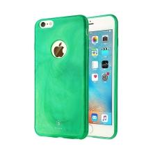 Kryt BASEUS pro Apple iPhone 6 Plus / 6S Plus gumový / výřez pro logo - textura mramoru - zelený