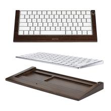Podstavec / stojánek SAMDI pro klávesnici Apple Magic Keyboard - dřevěný - tmavě hnědý