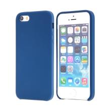 Kryt pro Apple iPhone 5 / 5S / SE - gumový - příjemný na dotek - modrý