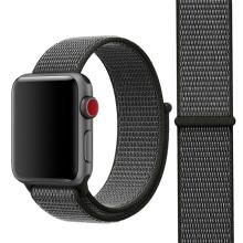 Řemínek pro Apple Watch 44mm Series 4 / 5 / 42mm 1 2 3 - nylonový - šedý / tmavě zelený