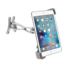 Držák na stěnu pro Apple iPad a další tablety vel. 7-10,5 - 360° otočný variabilní - stříbrný