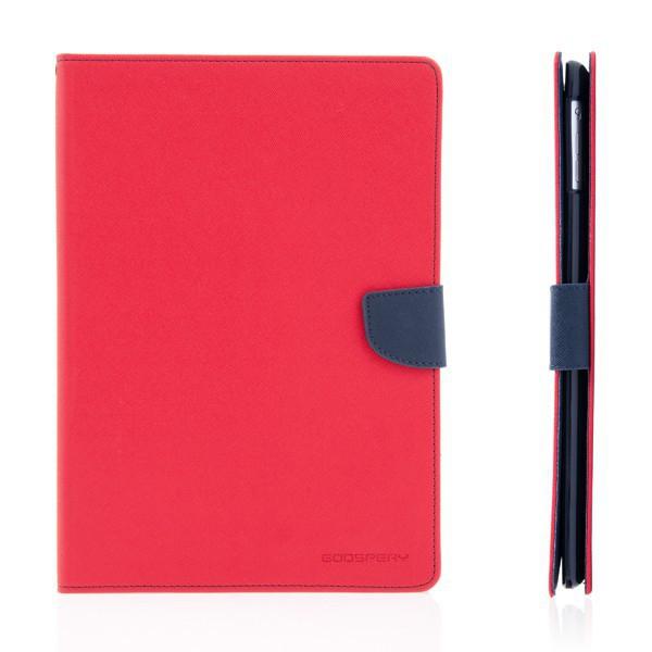 Ochranné pouzdro se stojánkem a prostorem pro platební karty pro Apple iPad Air 1.gen. - červeno-modré