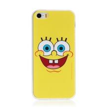 Kryt Sponge Bob pro Apple iPhone 5 / 5S / SE - gumový - vysmátý Sponge Bob