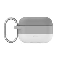 Pouzdro / obal BASEUS pro Apple AirPods Pro - silikonové - barevný přechod - šedé