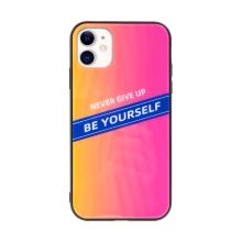 Kryt pro Apple iPhone 11 - gumový / skleněný - růžový