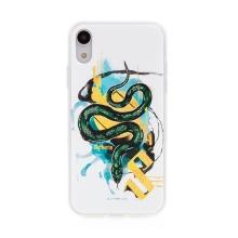 Kryt Harry Potter pro Apple iPhone Xr - gumový - had Zmijozelu